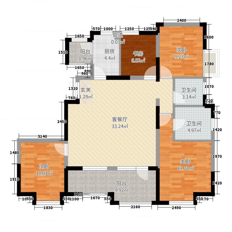 海泉湾港中旅公馆32138.20㎡32#35#37#GD1户型4室2厅2卫1厨