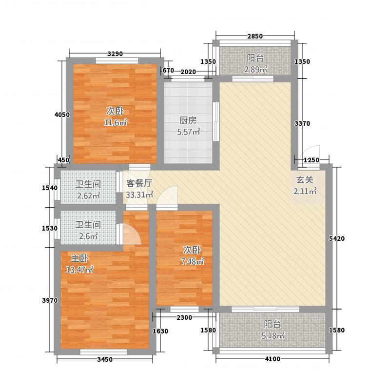 姜水龙湾二期23125.20㎡C户型3室2厅2卫1厨
