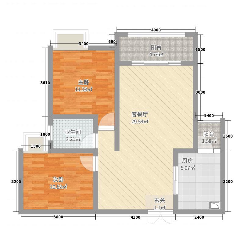 世纪华府123112.12㎡1号楼-户型3室2厅2卫1厨