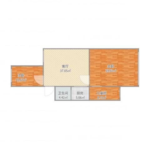 灯塔新村3室1厅1卫1厨143.00㎡户型图
