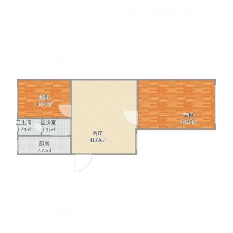 灯塔新村2室2厅1卫1厨140.00㎡户型图