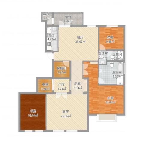 远洋天著3室2厅2卫1厨202.00㎡户型图