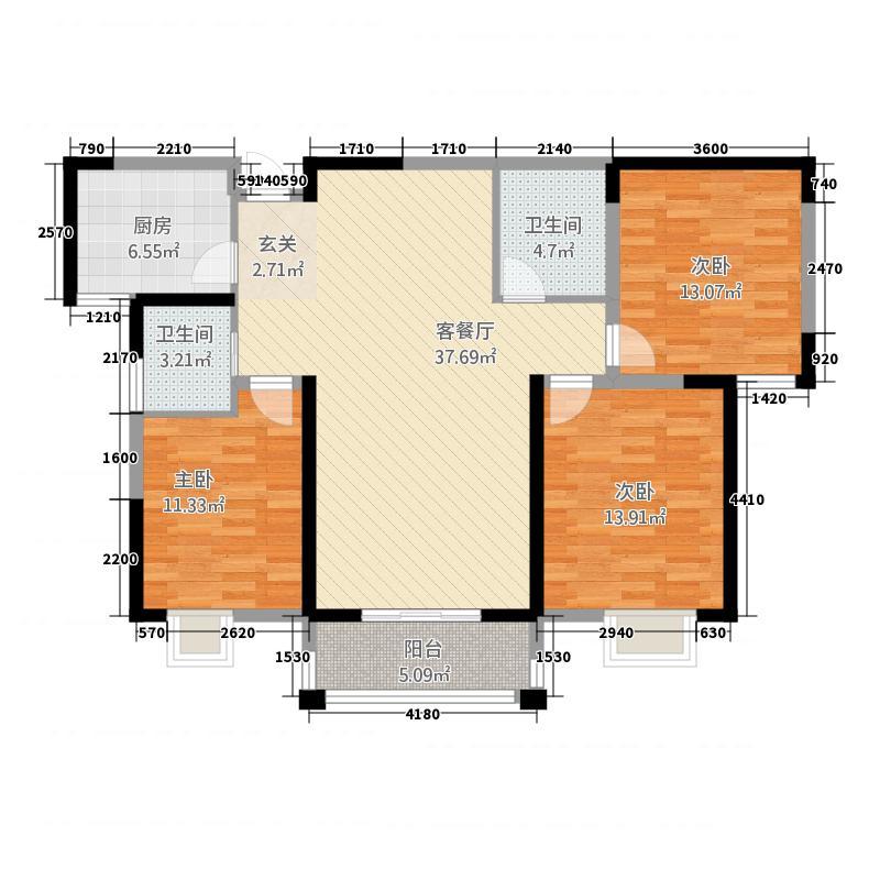 世贸广场3135.20㎡户型3室2厅2卫1厨