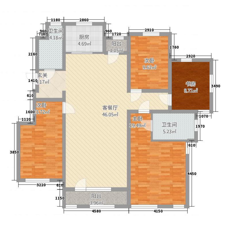 三期洋房标准层165平米户型