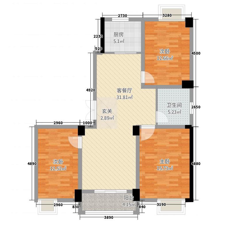 世贸广场312.20㎡户型3室2厅1卫1厨