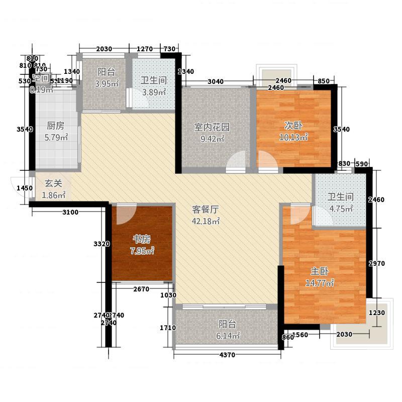 东方新城154.00㎡户型4室