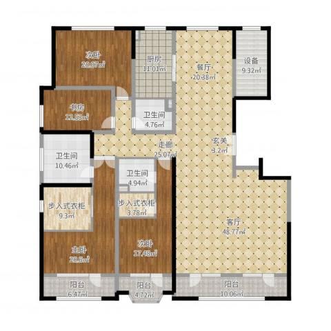 保利海德公园4室1厅3卫1厨342.00㎡户型图