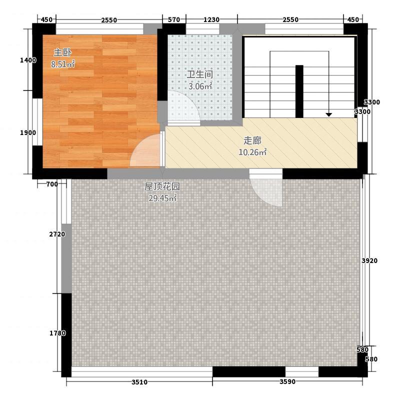 西环财富广场7112.62㎡一期7栋、8栋二层C12户型2室2厅2卫1厨