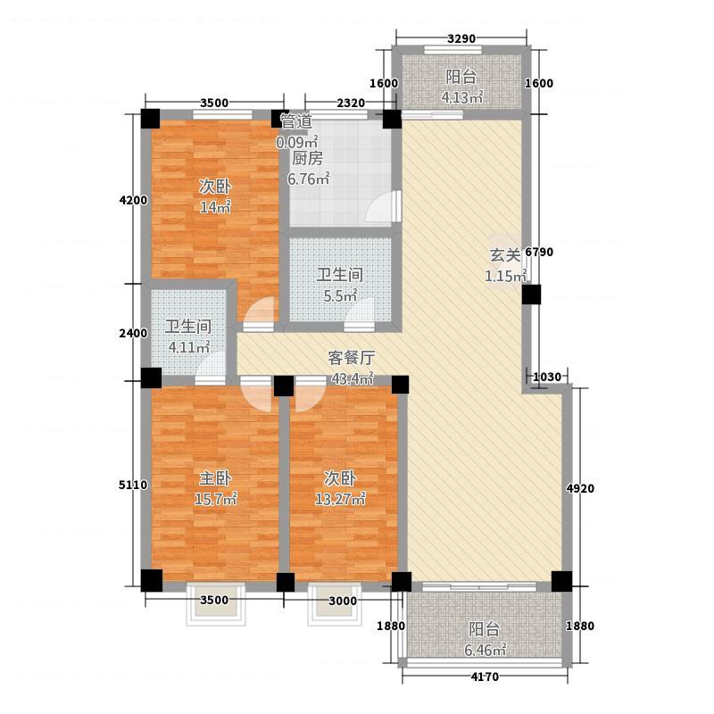 金地阳光大厦18.22㎡A户型2室2厅1卫1厨