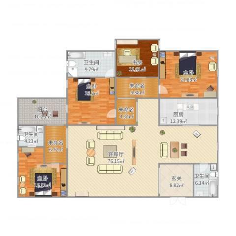 海角7号4室1厅3卫1厨228.13㎡户型图