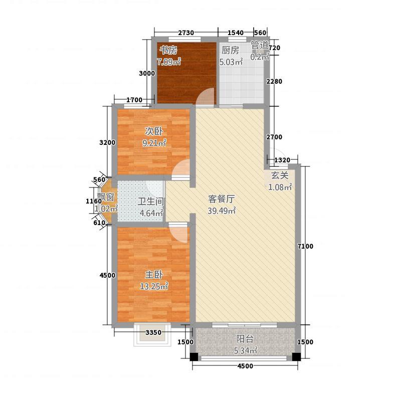水岸康桥318.72㎡NI户型3室2厅1卫1厨