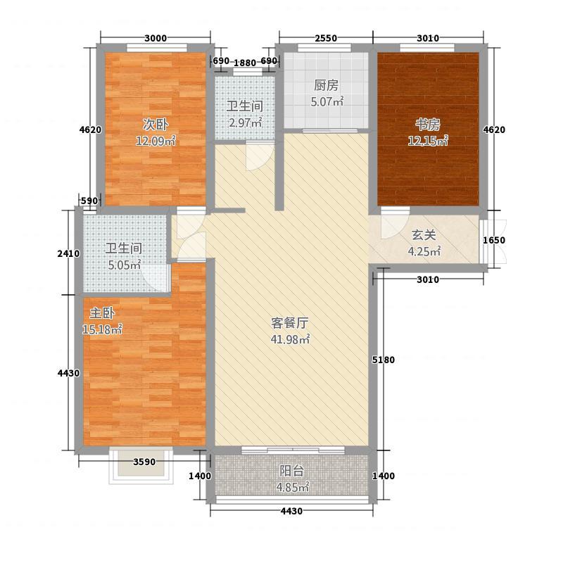 西亚斯御�141.32㎡(4)户型3室2厅2卫1厨