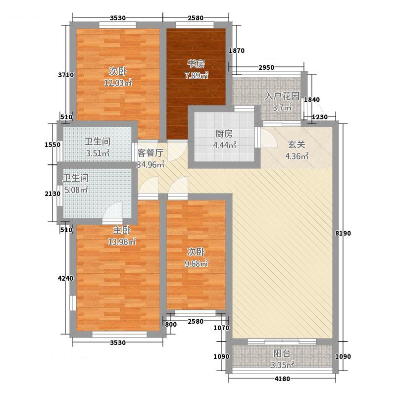 龙凤吉祥山庄144.20㎡户型4室2厅2卫1厨