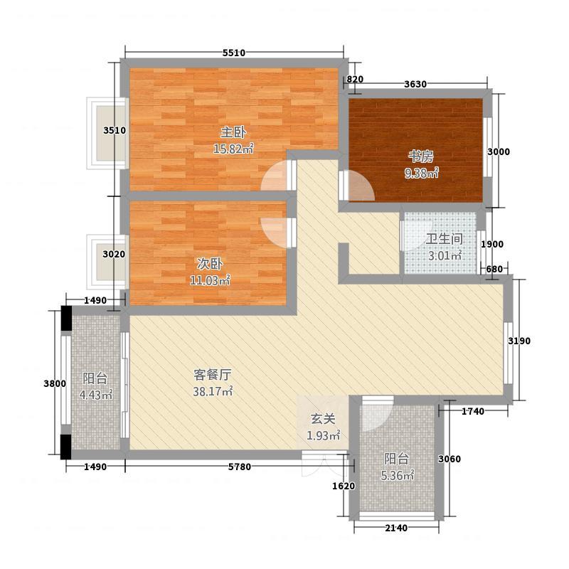 蓝鼎中央城3211112192.00㎡32W户型3室2厅1卫1厨
