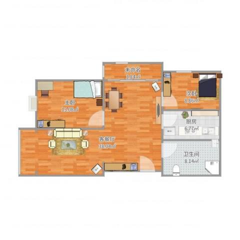 香山新村西北街坊2室1厅1卫1厨105.00㎡户型图