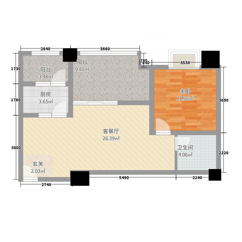 西昌时代广场时代广场A4户型2室2厅1卫1厨