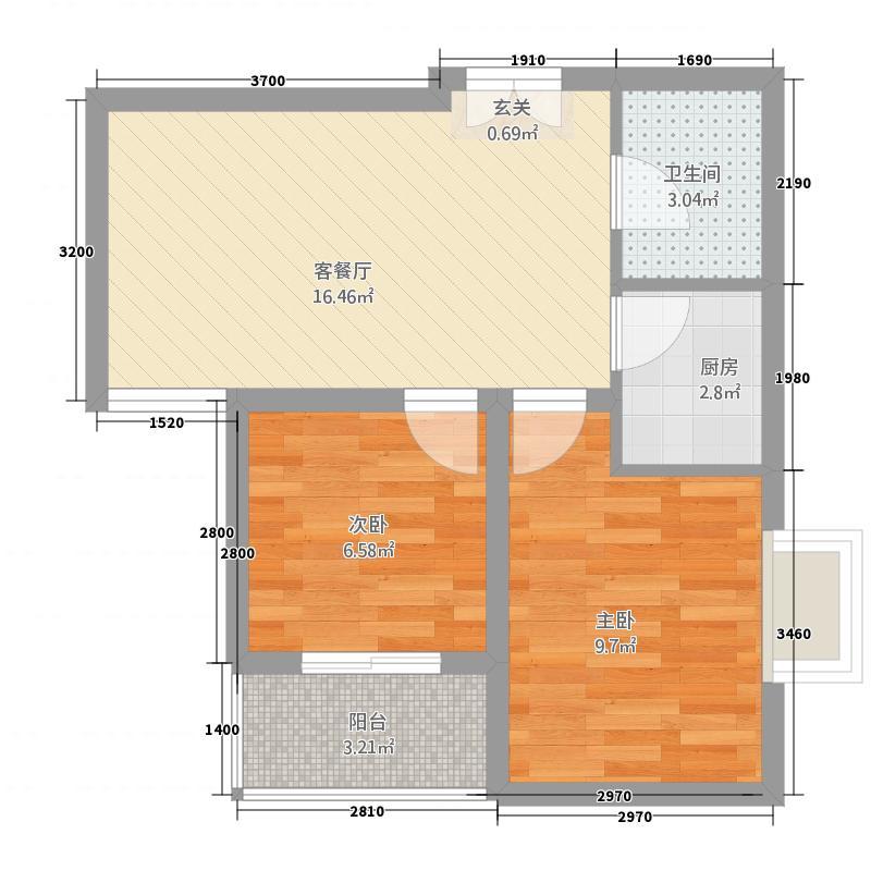 北坊苑3112.20㎡户型3室1厅1卫1厨