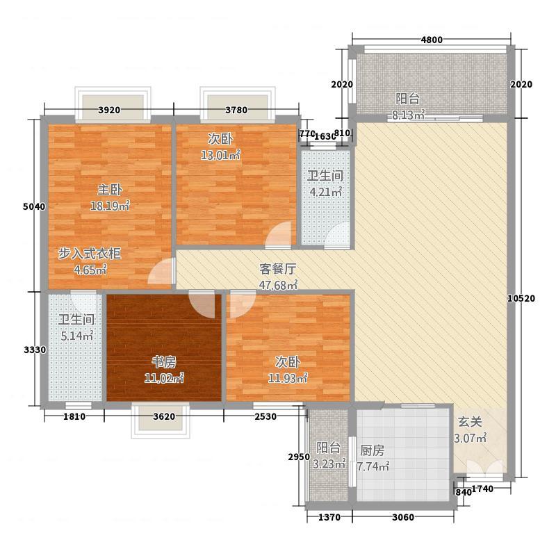 东城金汇园4.20㎡C户型4室2厅2卫1厨