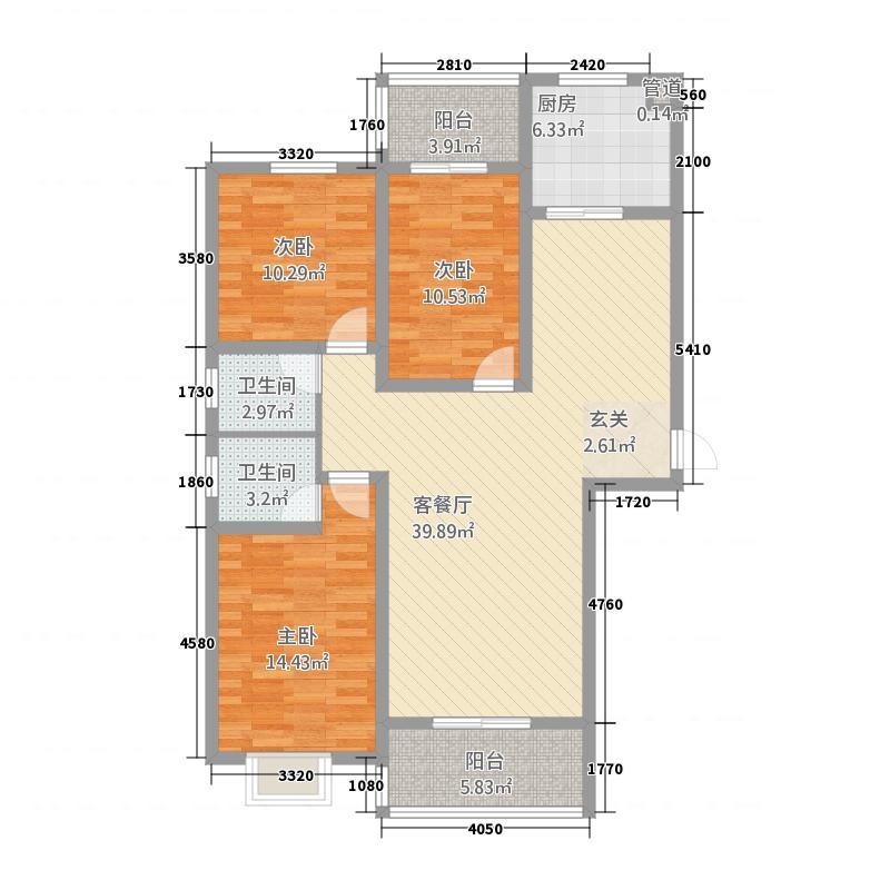 盛世和苑13.12㎡盛世合苑户型4室2厅2卫1厨