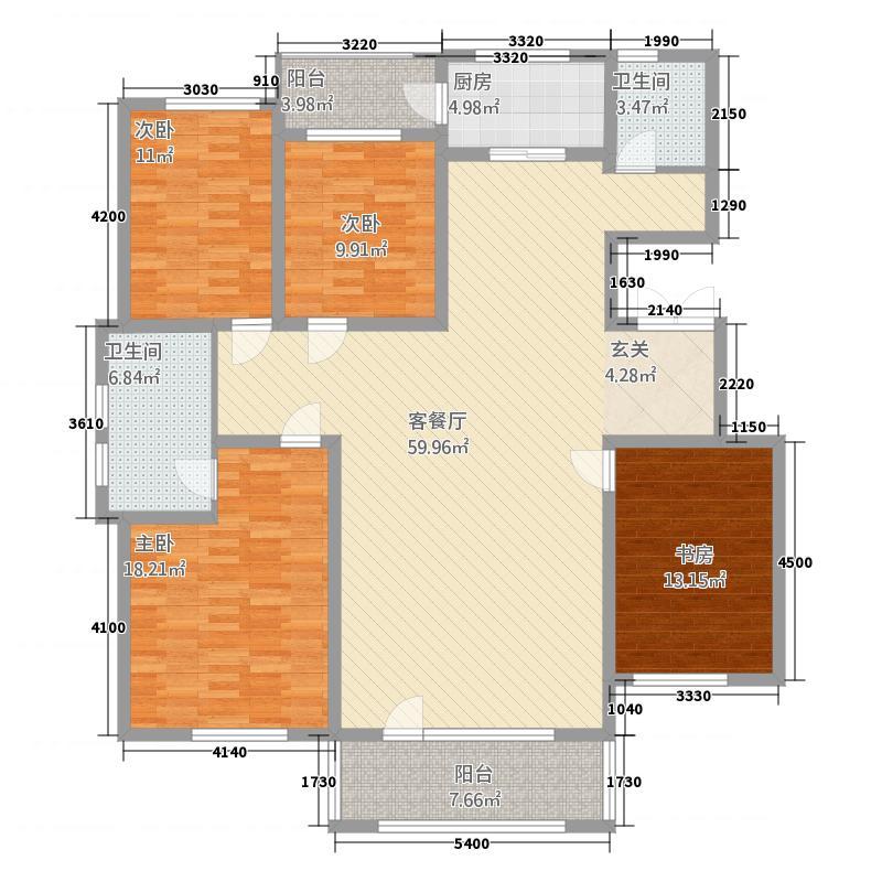 香巴拉家园12153.55㎡12号楼、13号楼、15―20号楼、32号楼C户型4室2厅2卫1厨