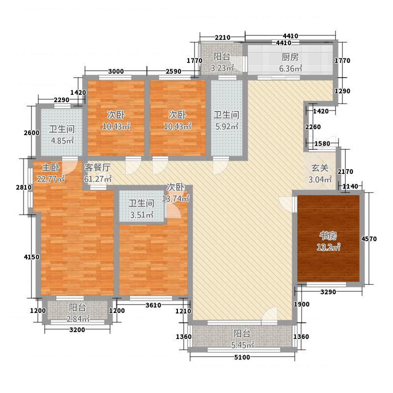 香巴拉家园2123182.75㎡21―23号、25―29号、35―37号楼D户型5室2厅3卫1厨