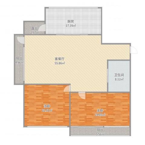 学府世家2室1厅1卫1厨187.00㎡户型图