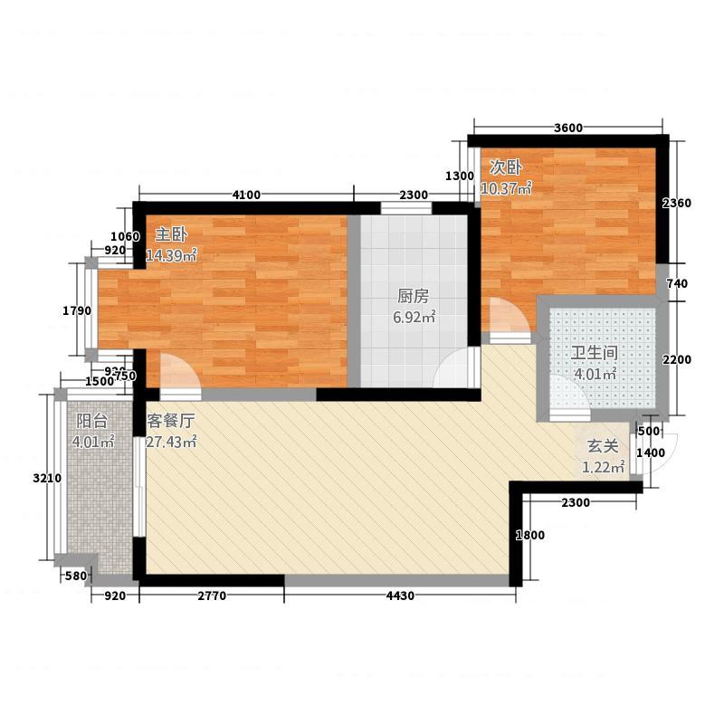 铜川傅氏阳光户型2室2厅2卫1厨