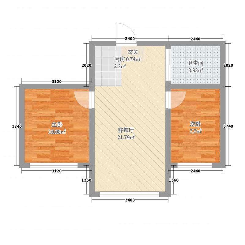 天成国际1254.20㎡户型2室1厅1卫1厨