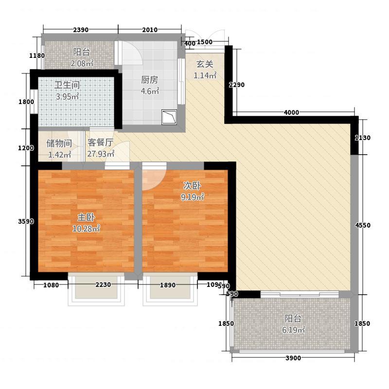 二期三号楼奇数层E1户型