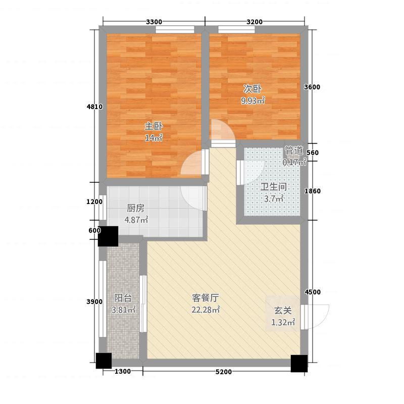 东兴商厦285.20㎡户型2室1厅1卫1厨