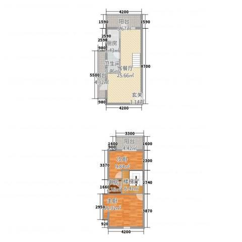 渭城风景3室1厅1卫1厨1255.00㎡户型图