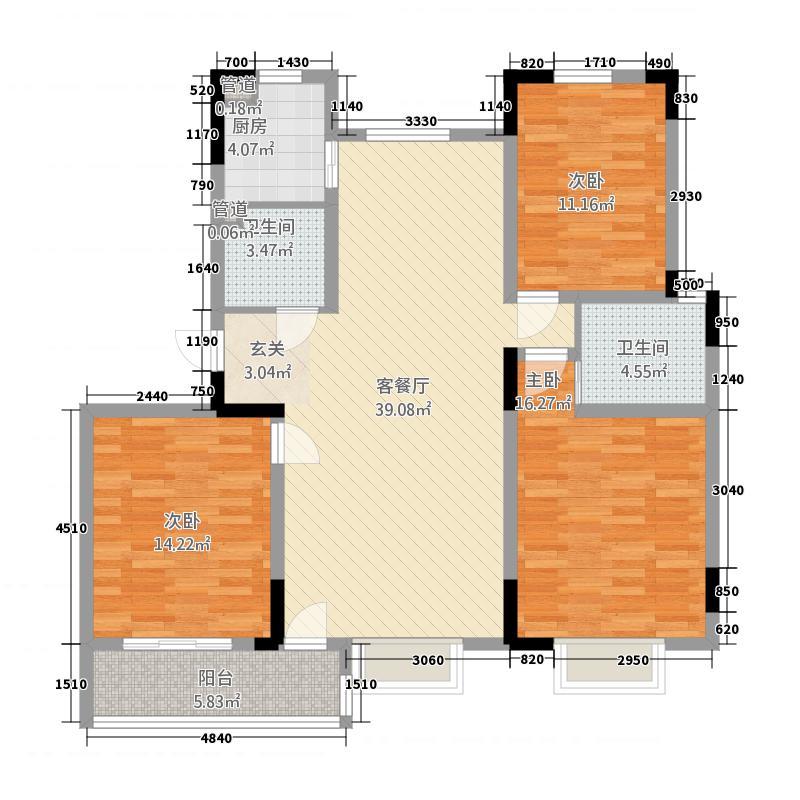 水韵名居13126.52㎡C1户型3室2厅2卫1厨
