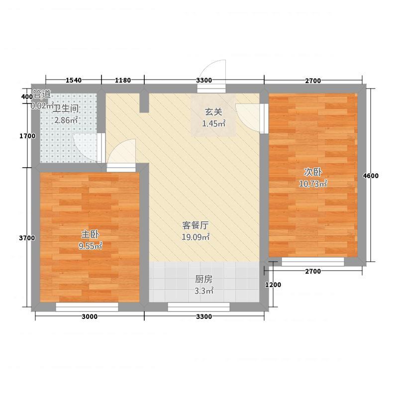 状元福邸521158.19㎡户型2室1厅1卫1厨