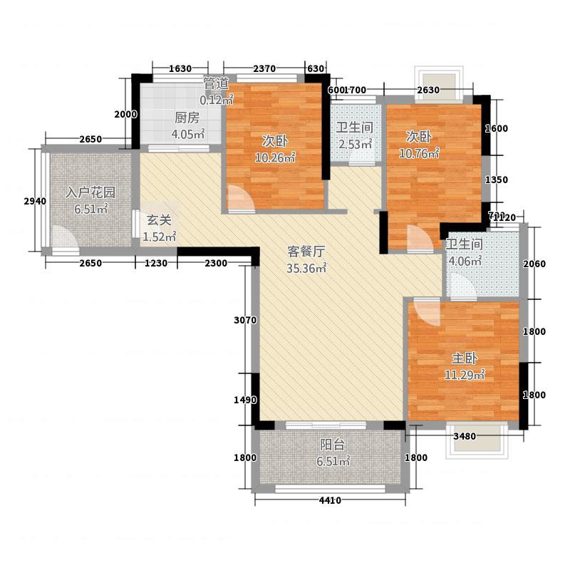 元泰未来城13127.62㎡C1户型3室2厅2卫1厨