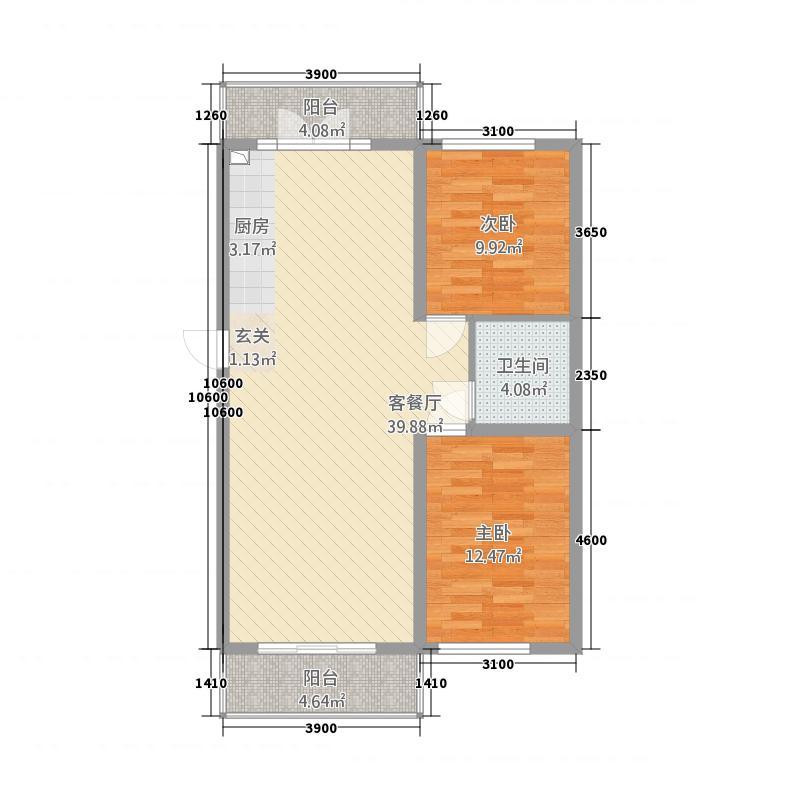 状元福邸32116.20㎡户型2室1厅1卫1厨