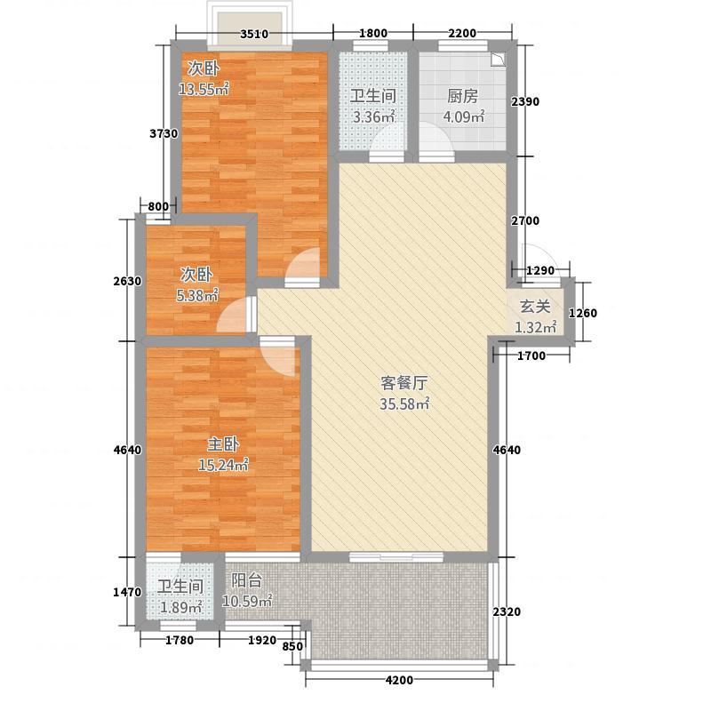 金域龙湾3115.20㎡户型3室2厅2卫