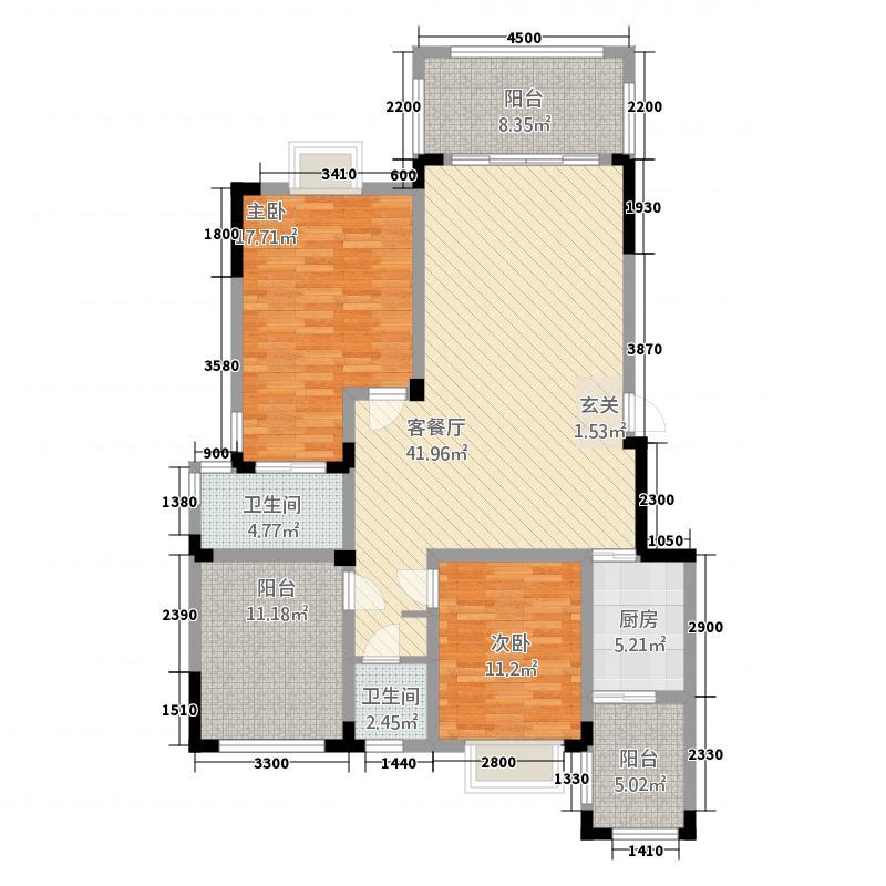 揽江2322.20㎡2户型3室2厅2卫