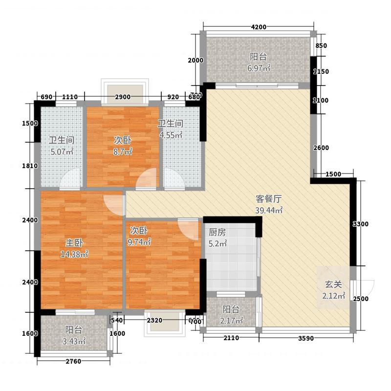 玉龙佳苑二期3133.88㎡户型3室2厅1卫1厨