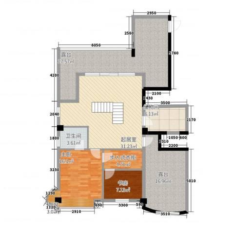 利玛・国际锦苑2室0厅1卫0厨160.00㎡户型图