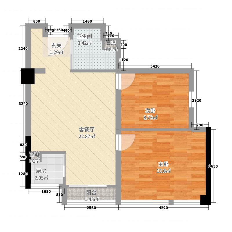 南苑一品4214.20㎡A型户户型4室2厅2卫1厨