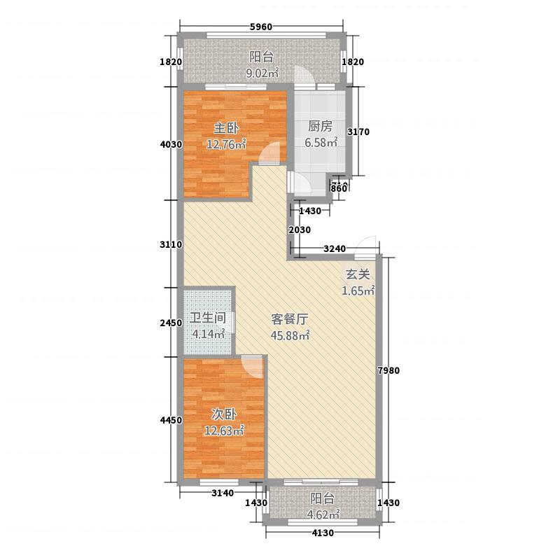 东方瑞景2134.20㎡户型2室2厅2卫1厨