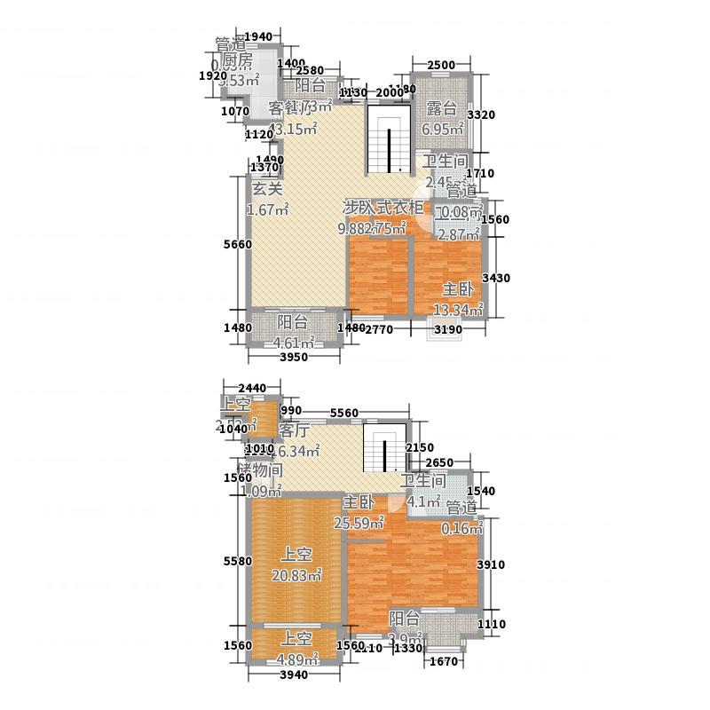 大观天下244.42㎡中建大观天下户型图一期Da1f户型4室3厅4卫1厨户型4室3厅4卫1厨