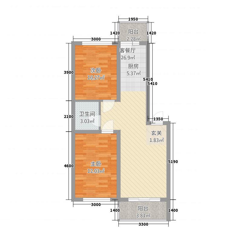 状元福邸121178.20㎡户型2室1厅1卫1厨