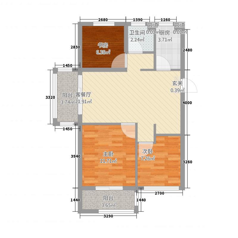 浙大网新科技城・未来郡87.20㎡未来郡10号楼-户型3室2厅1卫1厨