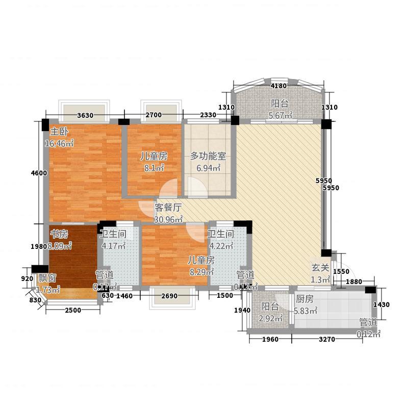 河池碧桂园4134.77㎡户型4室2厅2卫1厨