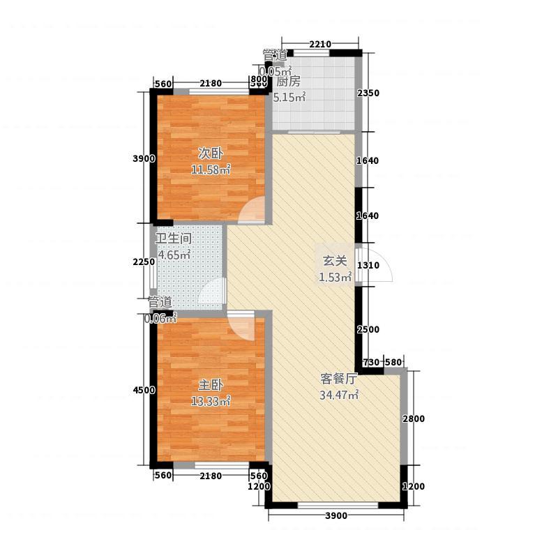 盛世凯厦户型2室2厅1卫1厨