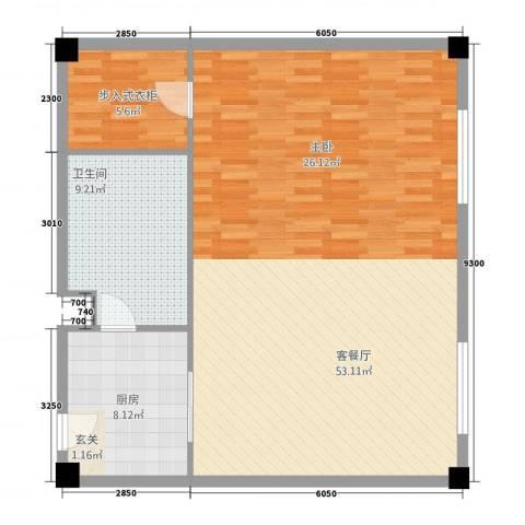 凤凰公社1厅1卫1厨123.00㎡户型图