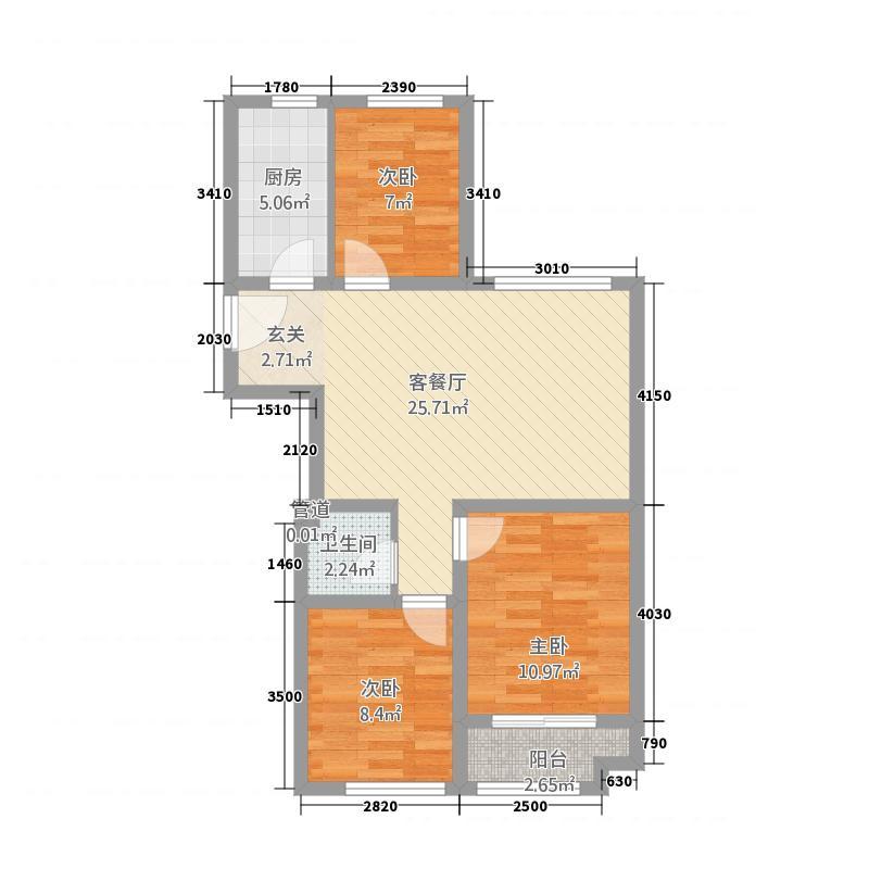 和扬桐树湾13.20㎡C1图库・户型3室2厅1卫1厨