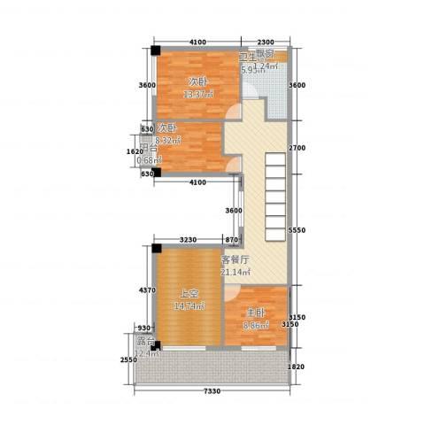 IEO商业街3室1厅1卫0厨120.00㎡户型图