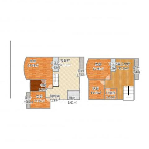 银河湾6室1厅2卫1厨275.00㎡户型图
